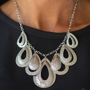Teardrop Tempest Silver necklace